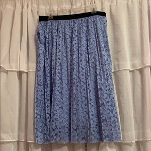 JS maxi skirt blue lace cute formal flirty NWT
